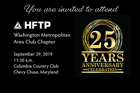 HFTP Washington Metropolitan Area Club Chapter Celebrates 25 Years