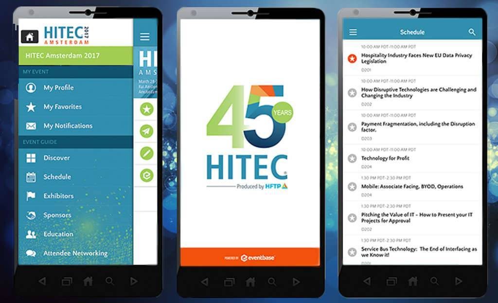 "Download the new HITEC App in the Apple and Google Play stores today by searching for ""HITEC 2017"""