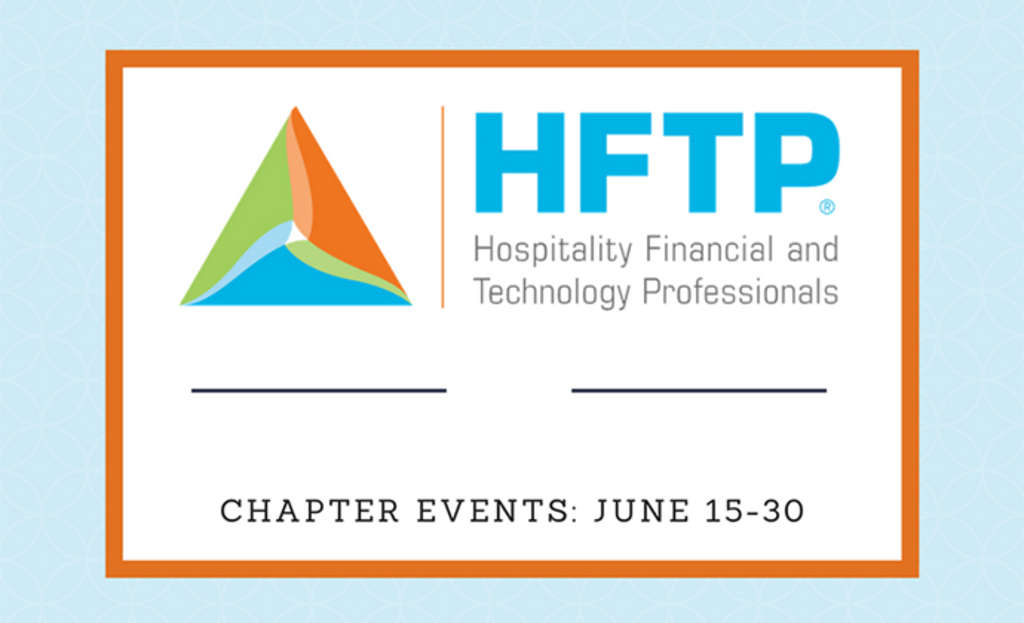 Upcoming HFTP Chapter Events: June 15-30, 2017