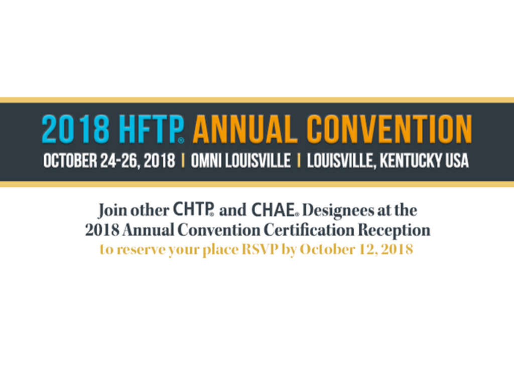 Hftp Certification Reception At Hftp Annual Convention 2018